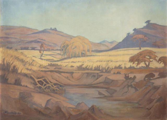 Jacob Hendrik Pierneef (South African, 1886-1957) Pienaars Rivier