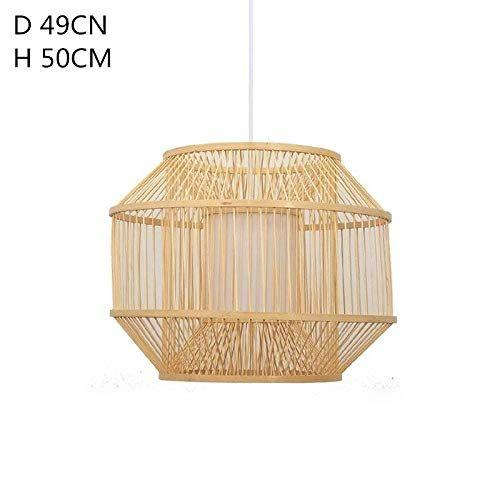 Luminaire Plafonniers Rotin De En Bambou Lustres Cube Lustre QrthsCd