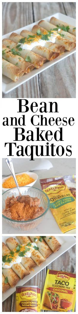 Bean and Cheese Baked Taquitos #sponsored @oldelpaso