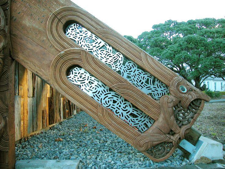 Maori design laser cut into aluminum from Maurice Van Cooten