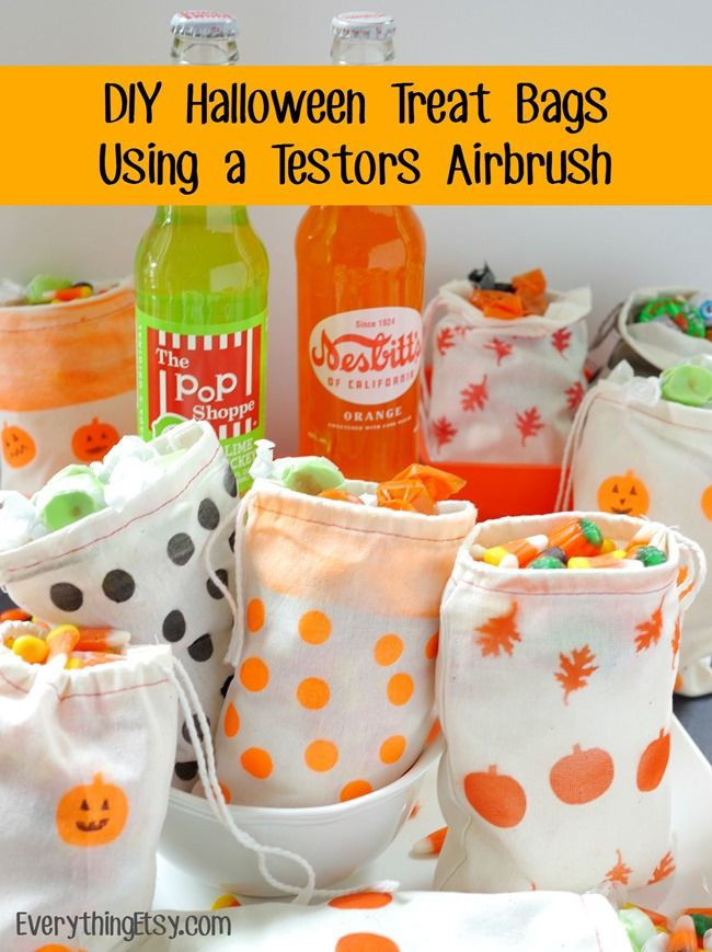 diy halloween treat bags using a testors aztek airbrush - Pinterest Halloween Treat Bags