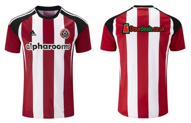 Camisas do Sheffield United FC 2016-2017 Adidas kit 2
