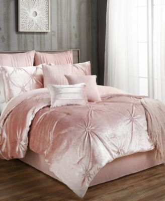 c4290134d73f Sherrie 10-Pc. Velvet King Comforter Set in 2019