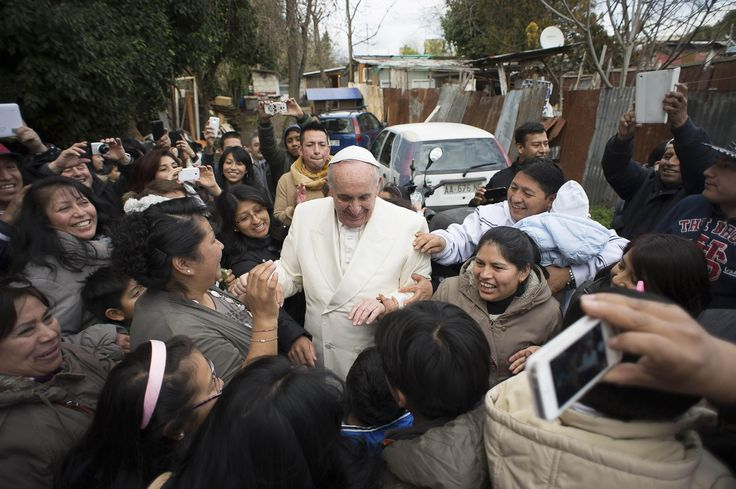 Imagine how excited the town's people were when Pope Francis surprised them with a personal visit!