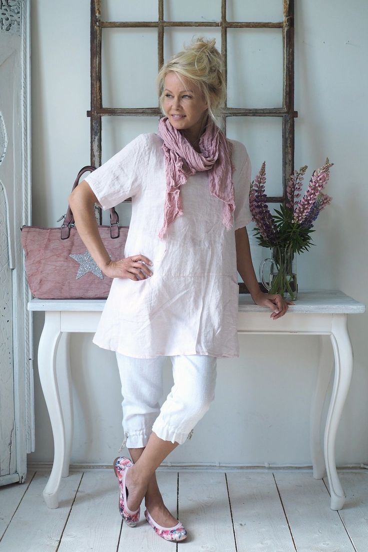 SIMPLE Linen tunic, LIGHT PINK - New items - BYPIAS