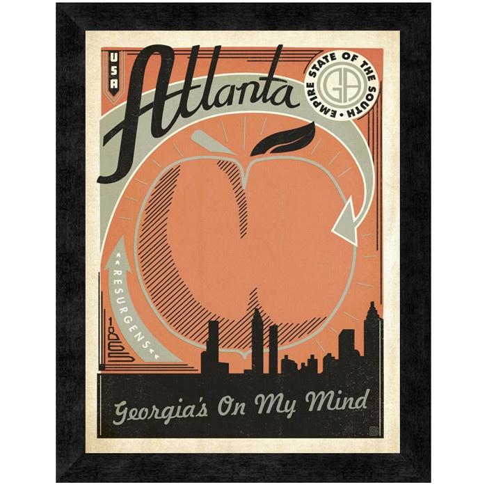 Atlanta, Georgia's On My Mind Wall Art