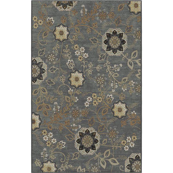 KORHANI home Lantana Rectangular Blue Floral Area Rug comes in 5x7 and 7x9 $159.00 - $298.00