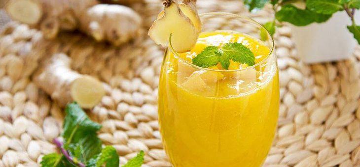 Estratto allegro di Cetriolo, Mango; Limone e Zenzero
