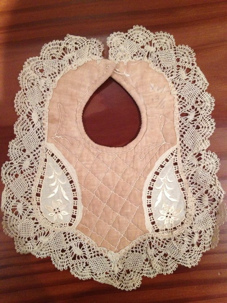 Antique Vintage Baby Bibs Silk AND Lace Early 1900s Rare | eBay