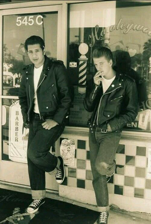 A male teenager of the 1950's would pin this and think its important because a lot of the guys dressed like this to show that they were rebels and convince people that they were bold and not scared to cause any trouble or stick up for themselves.