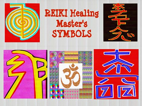 Reiki Healing Art Symbols Mantra Ommantra Background Designs And Color Tones N Color Shades Availab