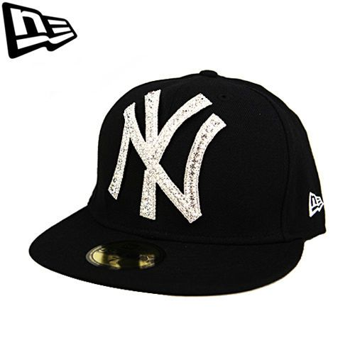 59FIFTY NEW ERA Newyork Yankees Black Big One Iced Up Swarovski Collabo Limited #Fashion #Style #Deal