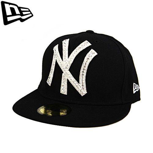 59FIFTY NEW ERA Newyork Yankees Black Big One Iced Up Swarovski Collabo Limited #Fashion #Style #Deal