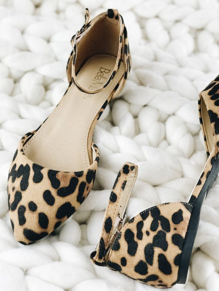 Leopard Flats. So much love for these beauts! Our Leopard Flat shoes with adjustable ankle strap are so chic, so cute, and so fun...truly the cats meow! therollinj.com