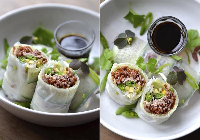 Five-Spice Duck Confit Spring Rolls With Soy-Sour Cherry Compote ...
