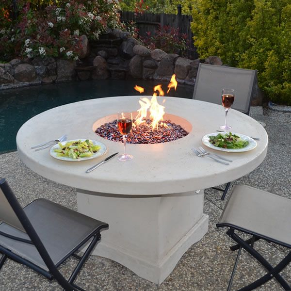 Mount Lassen Gas Fire Pit Table Woodlanddirect Com Outdoor