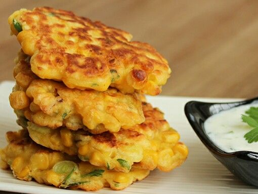 I'm so in love with Gordon Ramsay ' s recipe for Sweetcorn Fritters with Yogurt dip! This recipe is perfect for a quick lunch/dinner or appetizer during the weekend. It takes only 15 mins to make, a bunch of ingredients and you won't mess around the kitchen as you only need a bowl and a frying …