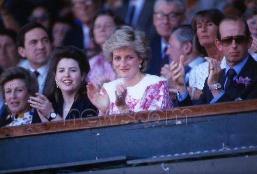 July 5 1987  Diana at Wimbledon for the Mens' Singles, Final Match between Pat Cash and Ivan Lendl
