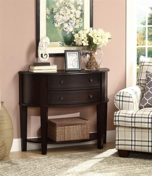 Coaster Furniture Cappuccino Wood Console Table  – Muebles