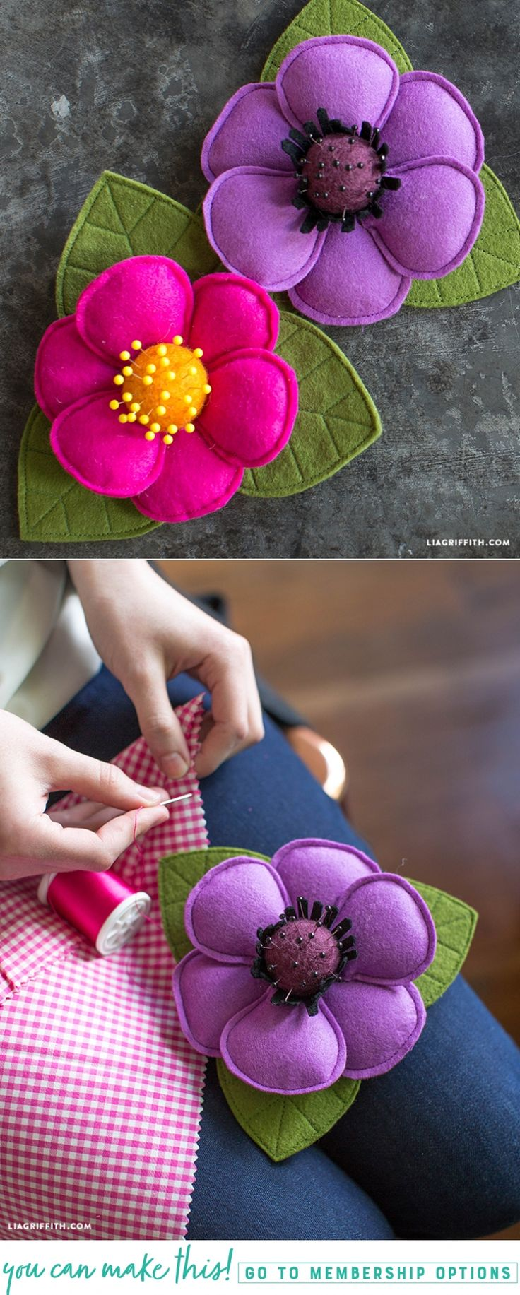 #Feltcraft pattern and tutorial at www.LiaGriffith.com: