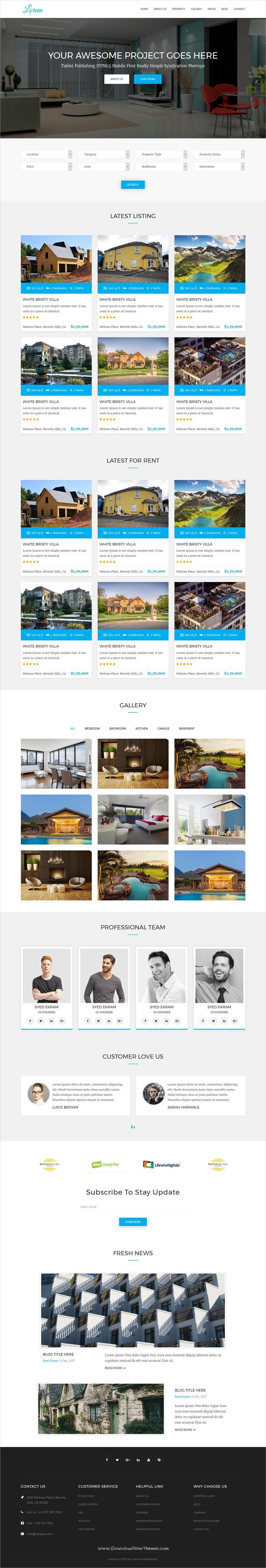 best ideas about real estate website templates loreen real estate html template