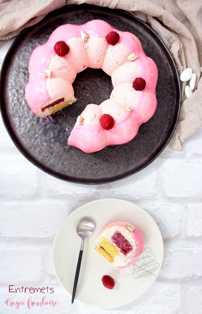 Gâteau dragée framboise tout rose pour Octobre rose