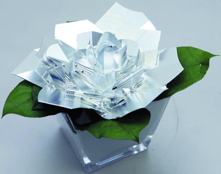 Rose of aluminum #rose #flower アルミの削り出しのバラです