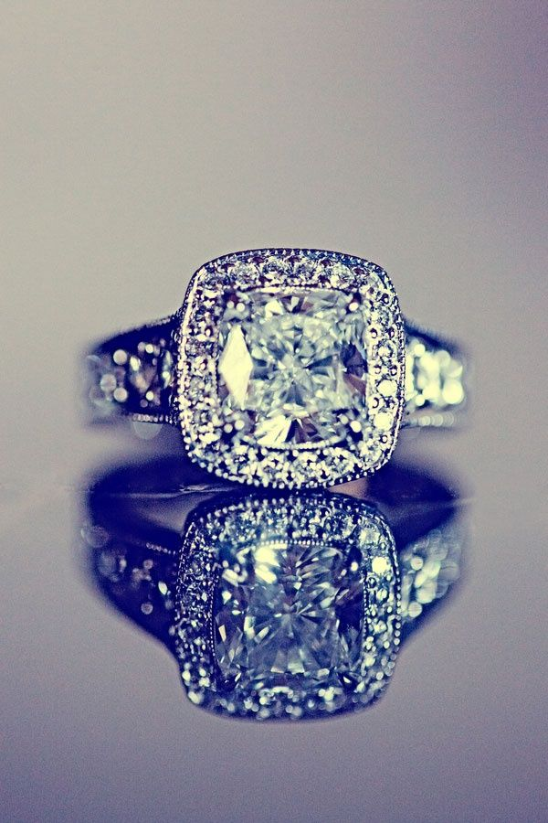 Vintage cushion cut. Whoever sees this, tell my future bf to get me this.
