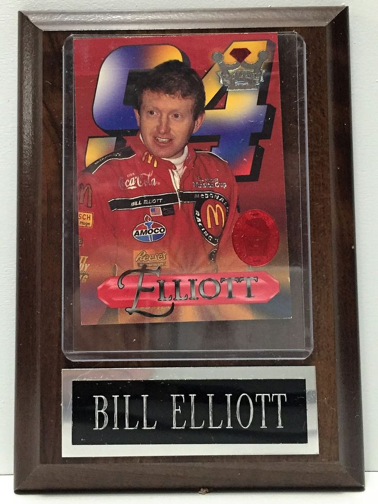 Crown Jewels Elite NASCAR Racing Wooden Plaque - Bill Elliott This item is NOT in Mint Condition and is in no way being described as Mint or even Near Mint. Our toys have not always lead the perfect l