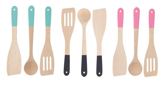 HEMA koken & tafelen - houten spatels en lepel