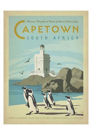 Le Cap, Afrique du Sud Affiches par Anderson Design Group sur AllPosters.fr