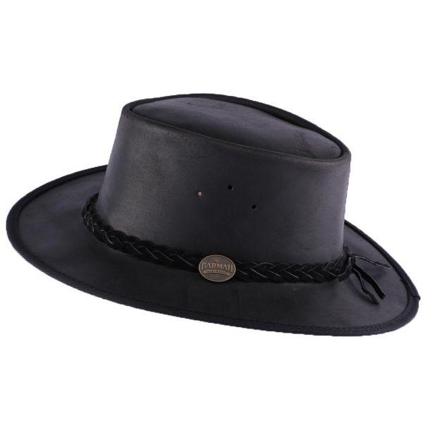 Chapeau Cuir Noir Brady Oil par Barmah Hats Le Choix Barmah Hat sur Hatshowroom.com #chapeaucuir