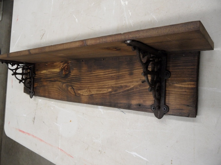 Rustic barnwood style shelf primitive wall shelf