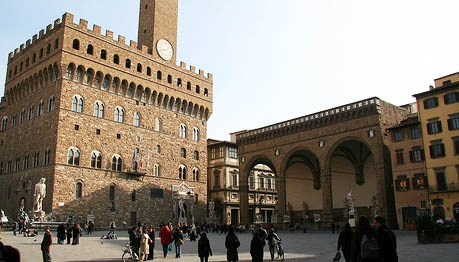 We stayed in an apartment on this Palazzo in Florence.  It is called the Palazzo della Signoria.  Beautiful place!