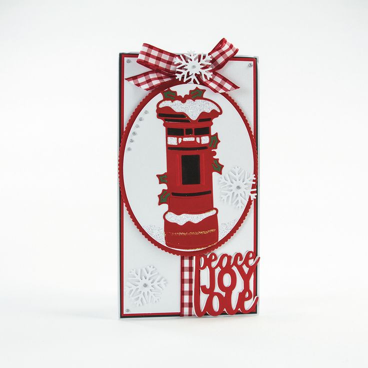 Rococo Christmas - Snowy Postbox - 1377E