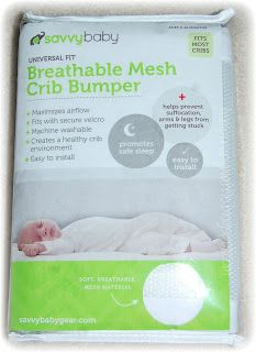 Keep baby safe when they sleep with the Breathable Mesh Crib Bumper #savvybabymeshbumper