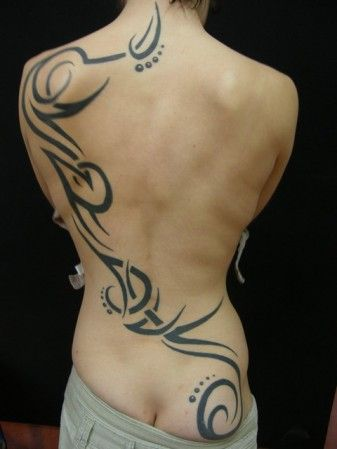 tatouage tribal dos homme | TATTOO : Dos femme