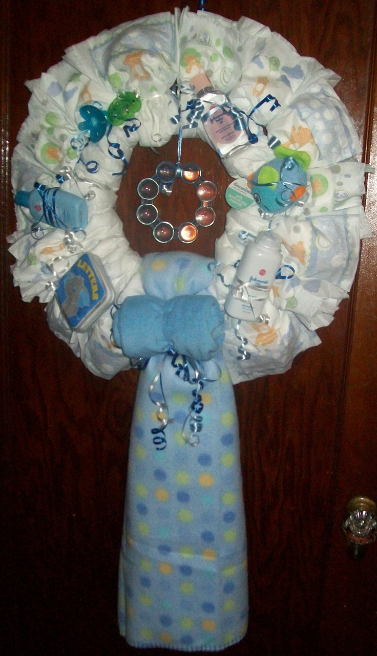 diaper wreaths on pinterest baby girls baby wreaths and baby blocks
