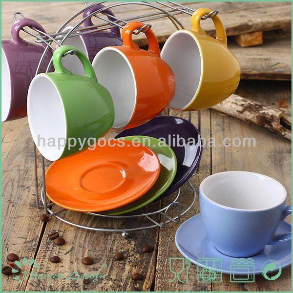 custom printed ceramic cheap tea cups and saucers,crockery wholesale tea cup and saucer,stoneware cup saucer manufacturer
