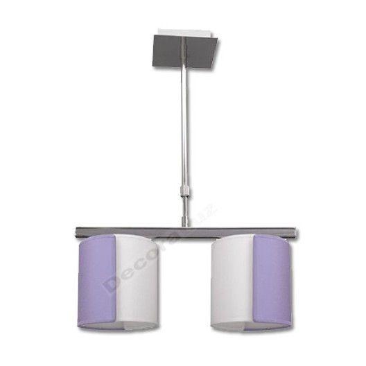 lmpara moderna pantallas dos colores lila blanco luces