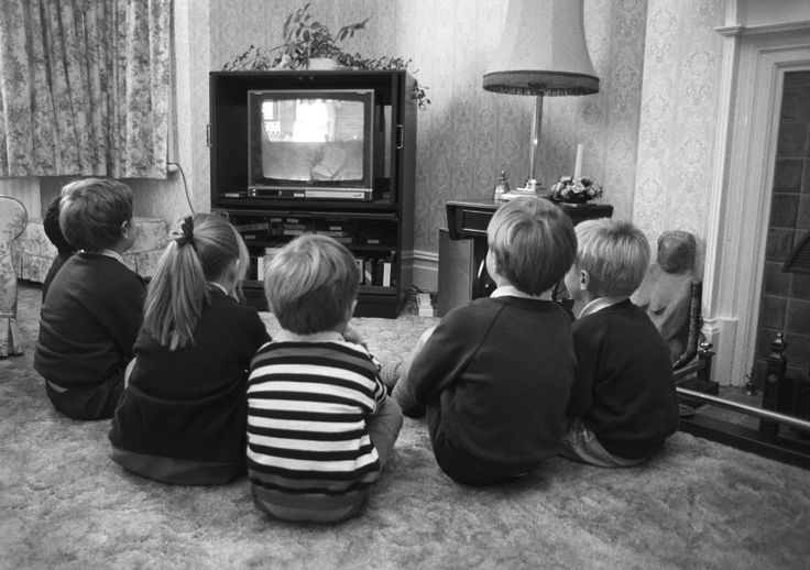 Loved watching television even in black and white.