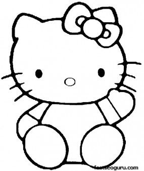 printable hello kitty coloring pages for kids printable coloring pages for kids - Kitty Doctor Coloring Pages
