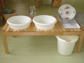 Simple dishwashing station.