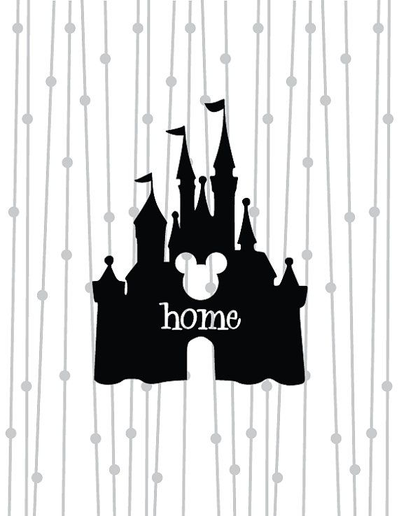 Disney Castle SVG, Mickey Castle SVG, SVG, dxf, digital cut file, silhouette studio, cricut