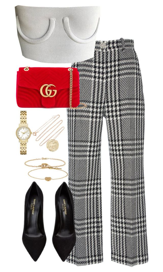 """""""Untitled #5376"""" by theeuropeancloset on Polyvore featuring Zuhair Murad, Gucci, Yves Saint Laurent, Kate Spade, Cartier and Pascale Monvoisin"""