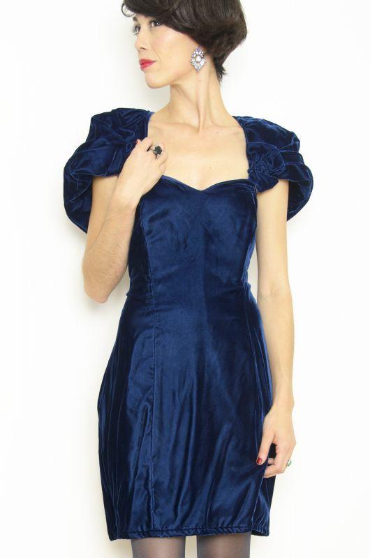 Vestidos fiesta terciopelo azul