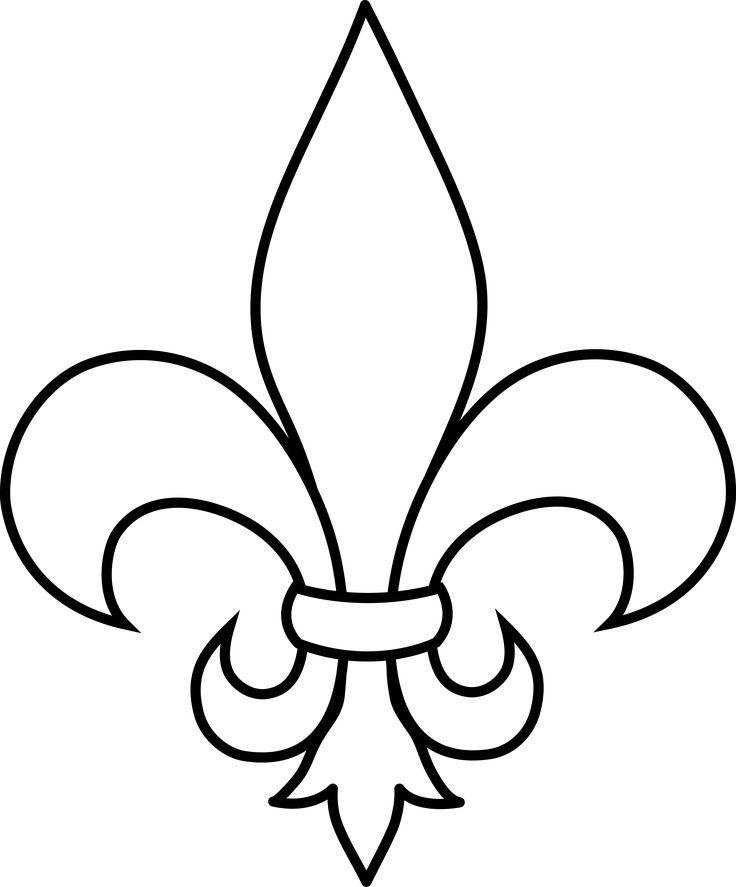 Clipart Fleur frrench free clip art | black and white fleur de lis outline - free