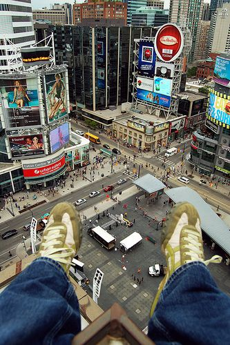 Two Feet Squared - Enjoying a view that few get to enjoy. #Toronto #Rooftopping