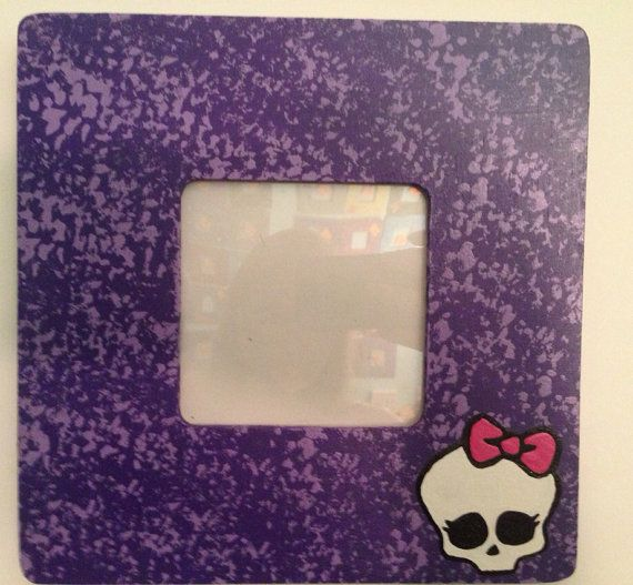 Monster high picture frames with protective cover (this listing is for ONE of 3 frames) on Etsy, $12.00