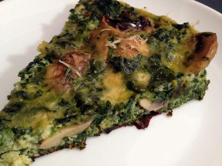 Spinach & Mushroom Frittata - http://notfancyfood.com/recipe/spinach-mushroom-frittata/